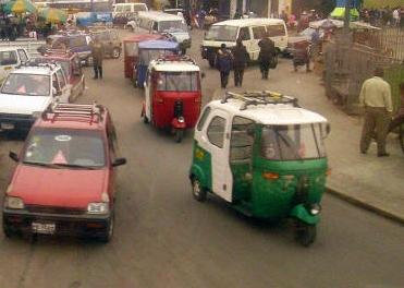 trânsito em Lima Peru