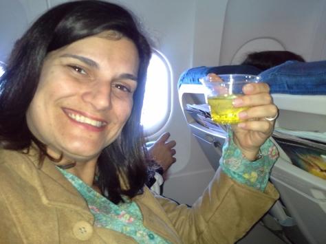 Provei a Inca cola no voo SP-Lima