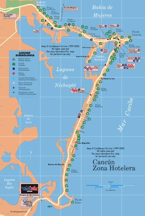 Cancu, zona hoteleira, é essa faixa estreita de areia em formato de 7