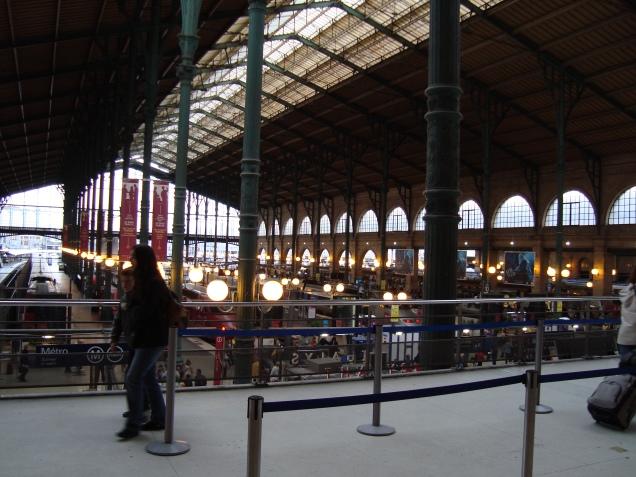 Apesar da correria, consegui uma fotinho na Gare du Nord