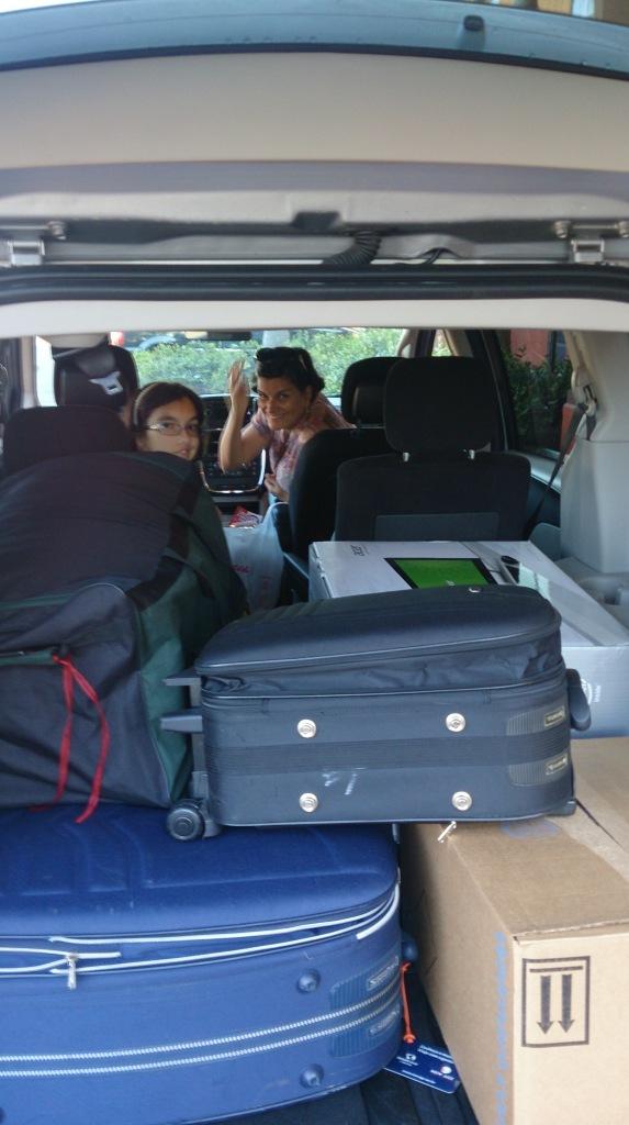 A Caravan foi perfeita para acomodar nossas malas