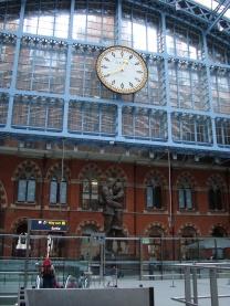 St Pancras trem Paris Londres