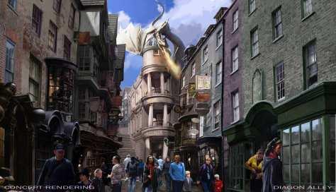 Projeto da Diagon Alley. Foto de http://www.orlandoinformer.com