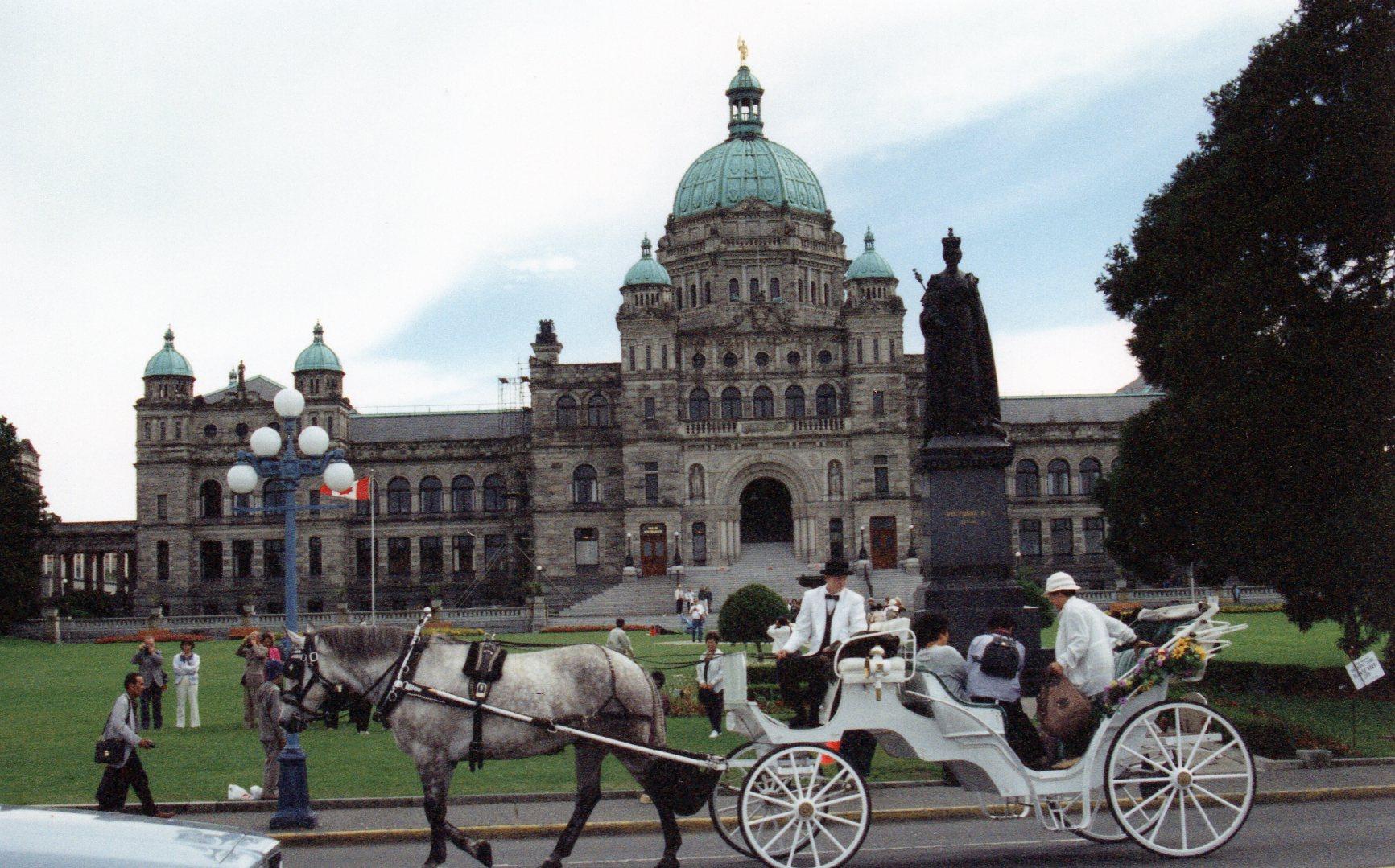 O Parlamento. Vitória é a capital da Colúmbia Britânica