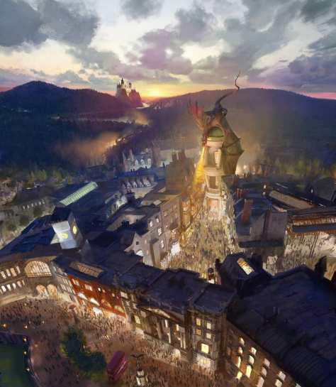 Projeto da nova area na Universal Studios. Foto de http://www.orlandoinformer.com/