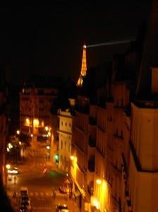 Última noite em Paris, última vista da janela de nosso quarto
