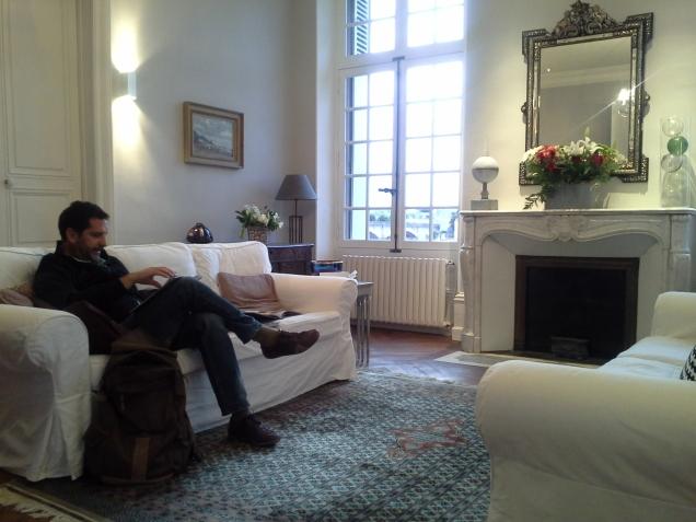 Sala de estar da B&B em Amboise