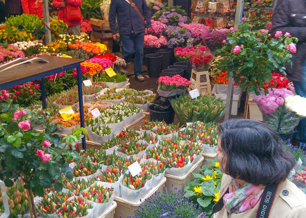 Amsterda flores mercado