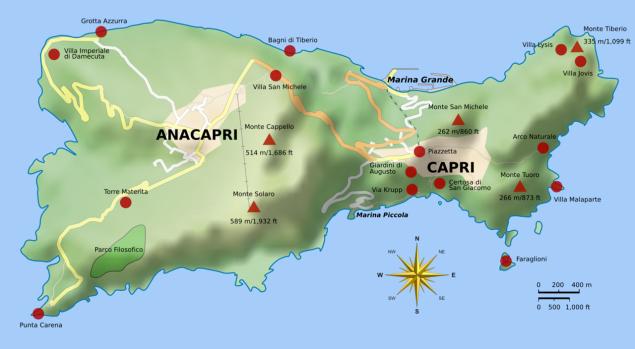 como chegar a Capri