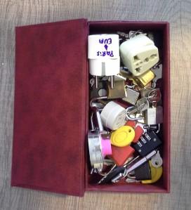 Minha caixa de cadeados e adaptadores