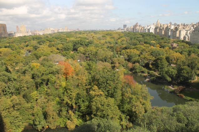 Vista do Sul do central Park, em 8 de outubro de 2014