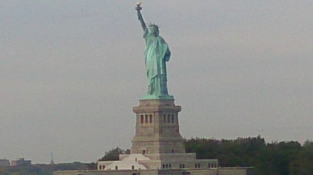 Lady Liberty vista do ferry da Staten Island: grátis!