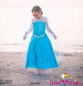 Fantasia da Elsa de Frozem por 45 dólares