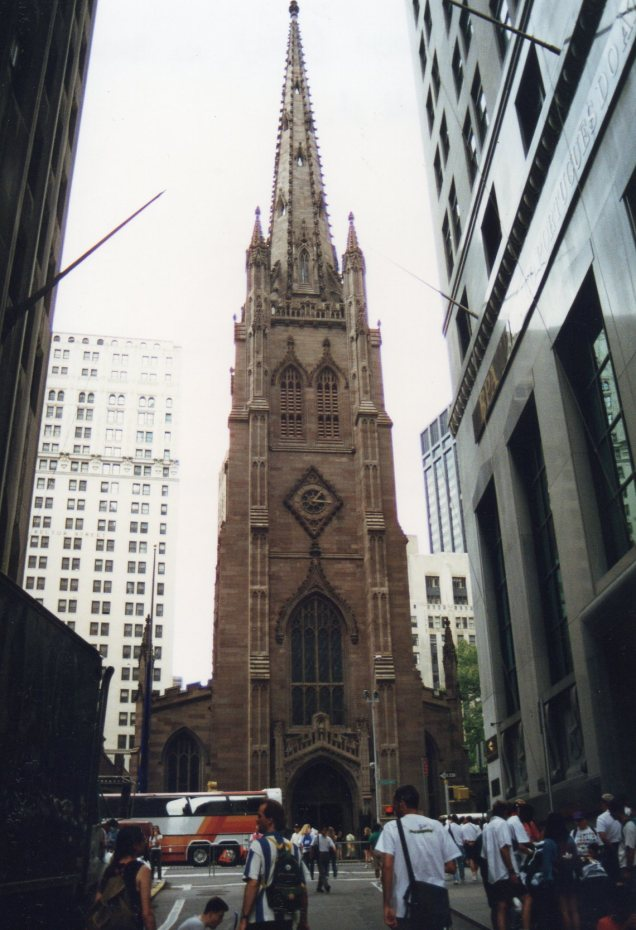 A Trinity vista da Wall Street