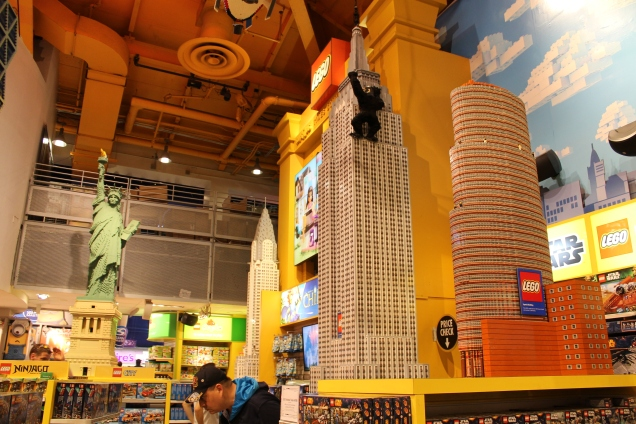 Ícones de NYC em LEGO