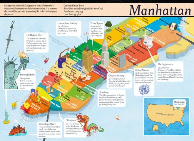 mapa de Manhattan Nova iorque