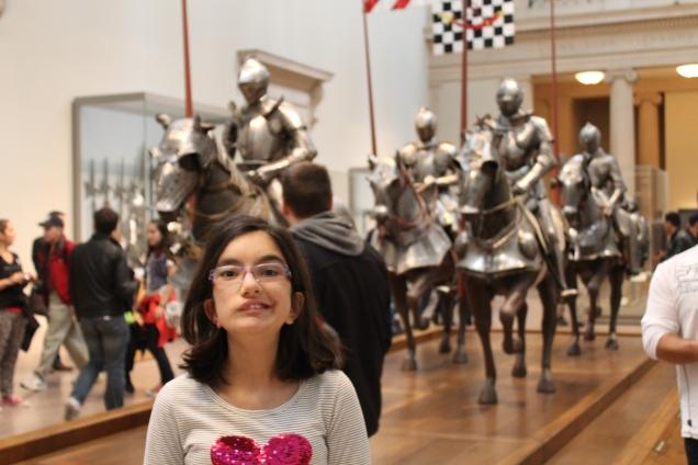 Princesas sempre gostam de cavaleiros e armaduras