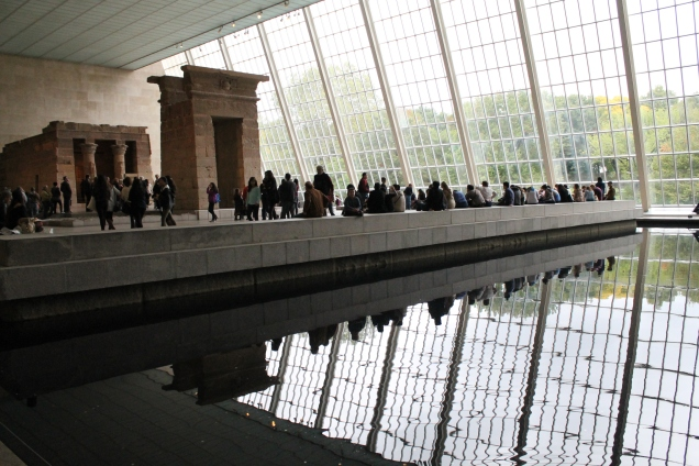 O templo de Dendur no primeiro andar