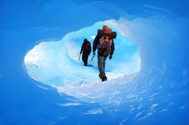 mini trekking sobre o glaciar: um dos passeios