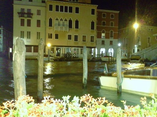 Vista do meu primeiro jantar em Veneza