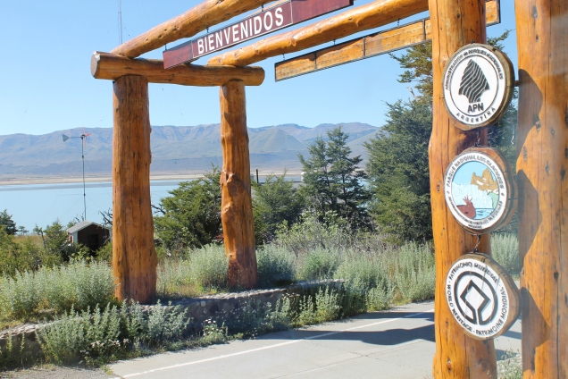 O portal de entrada do Los Glaciares