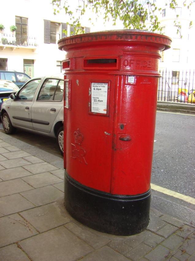 Londres ícones caixa de correio
