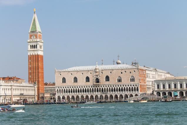 Palazzo Ducale e campanario vistos do Grande Canal