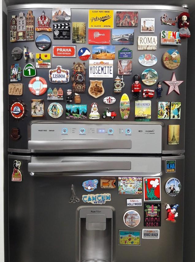 ímã de geladeira suvenir de viagem