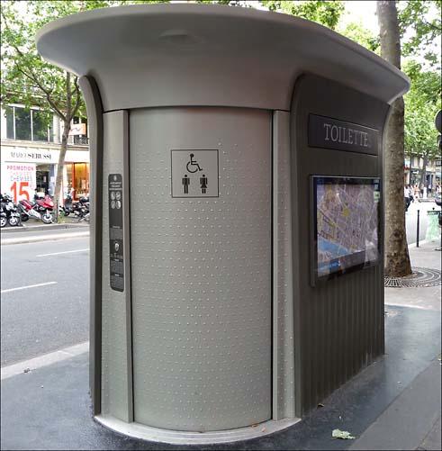 sanisette, o banheiro auto-limpante