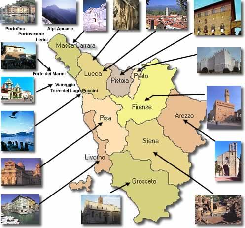 opções de passeios na Toscana
