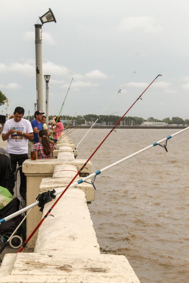 Pesca em frente ao Aeroporto