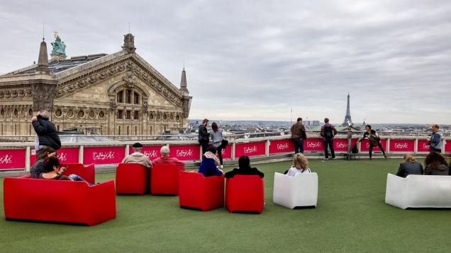 O terraço das Galerias Lafayette