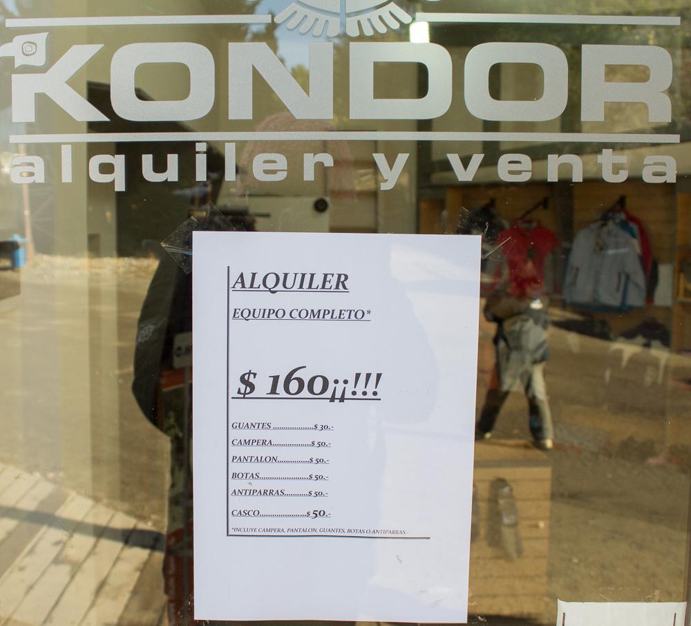 aluguel roupa neve em Bariloche