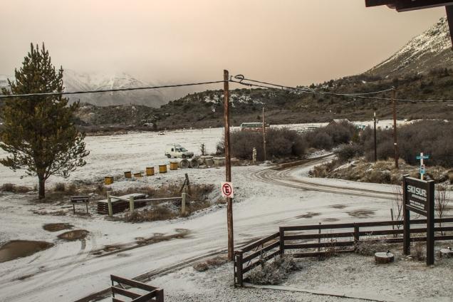 Vista do terraço do apart-hotel Ski Sur