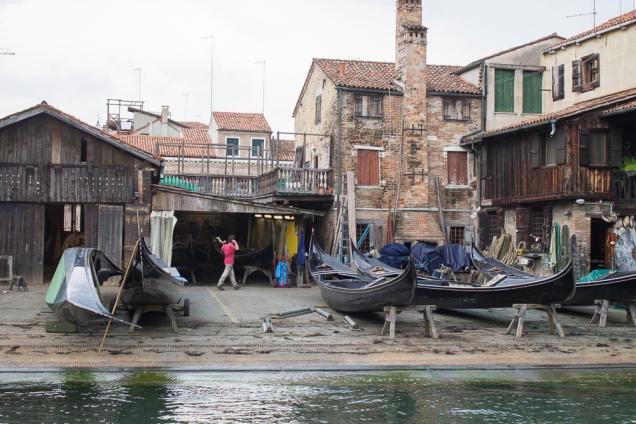 oficina gôndola em Veneza