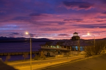 Lago Nahuel Huapi ao amanhecer, às 9h