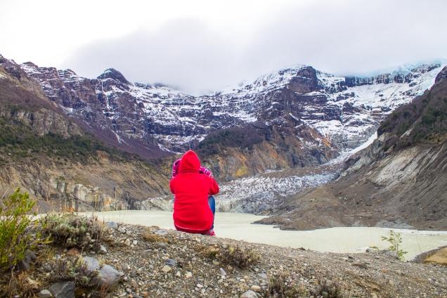 O Cerro Tronador e sua geleira bolo mármore: resultado da mistura gelo+rocha vulcânica