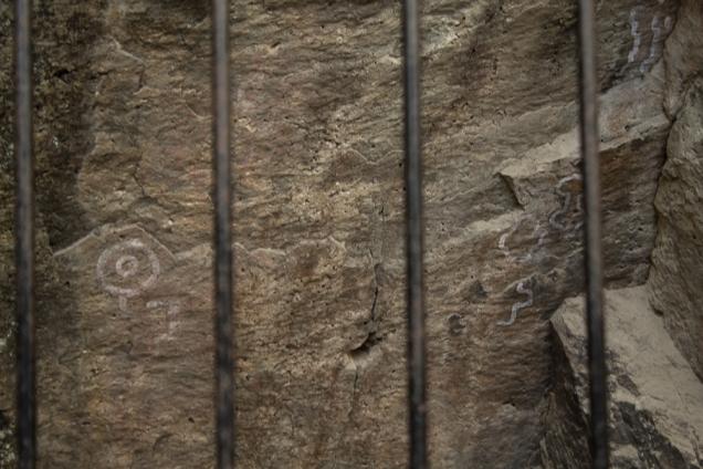 Isla Victoria pinturas rupestres