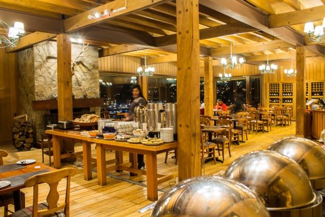 o restaurante do Cabanas del Lago