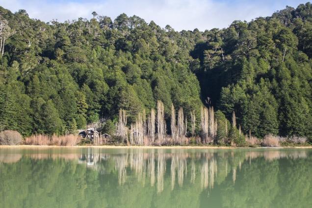 Antiga sede do Parque Nacional no Lago Frias