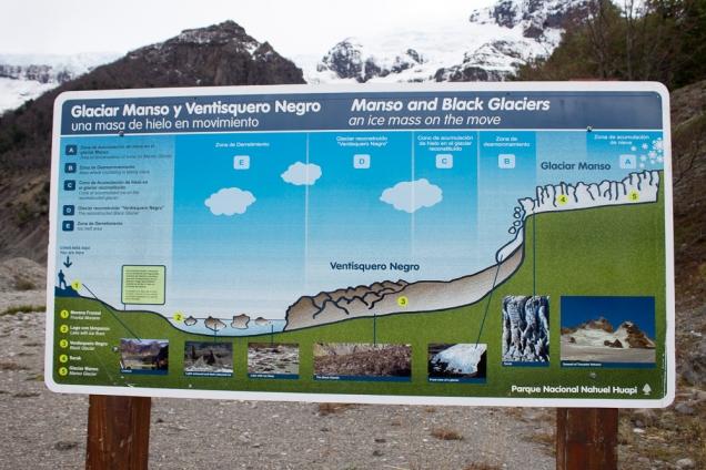 Cerro Tronador e sua geleira