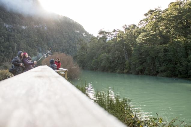 O Rio Frias a poucos metros de desaguar no Lago Nahuel Huapi