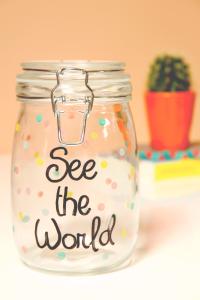 de grão em grão, você enche a travel Jar
