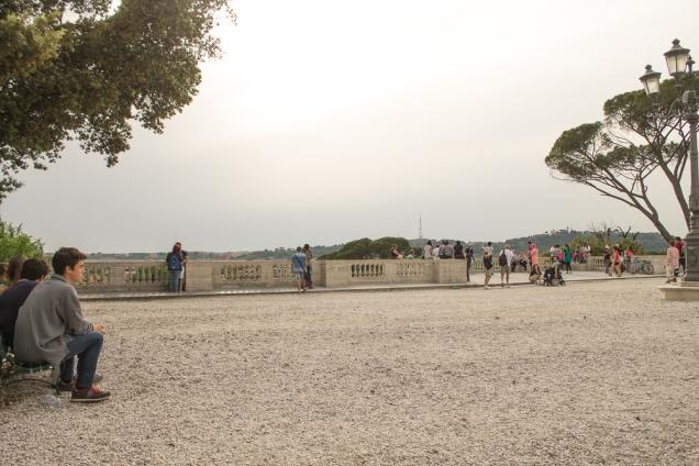 Pincio, o terraço acima da Piazza Del Popolo