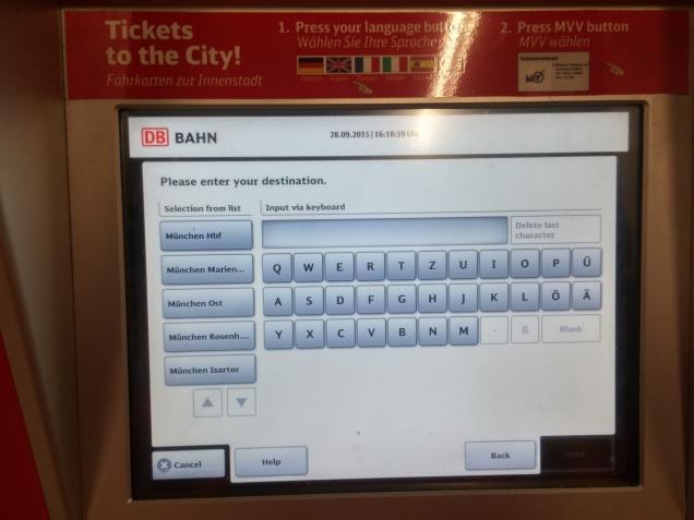 bilhete de trem aeroporto Munique