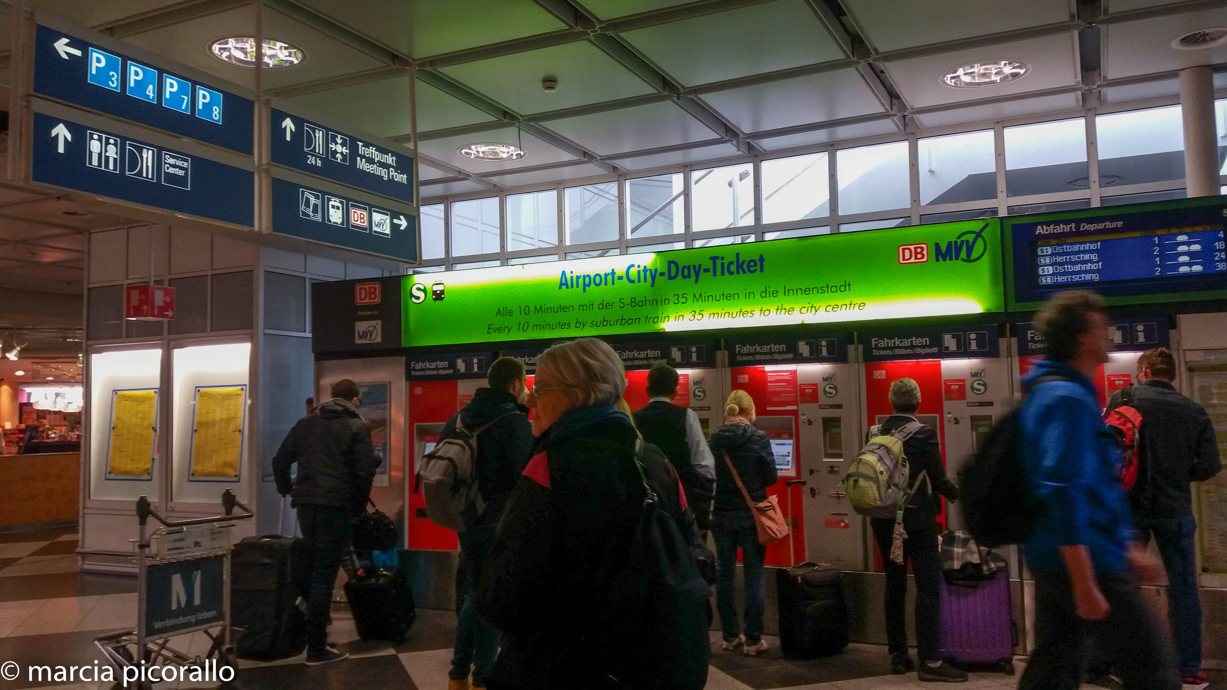 bilhete trem Munique a partir do aeroporto