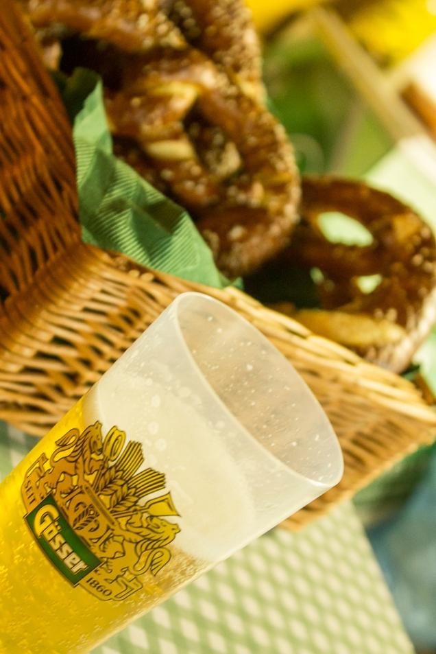 Pretzel e cerveja: ícones da festa