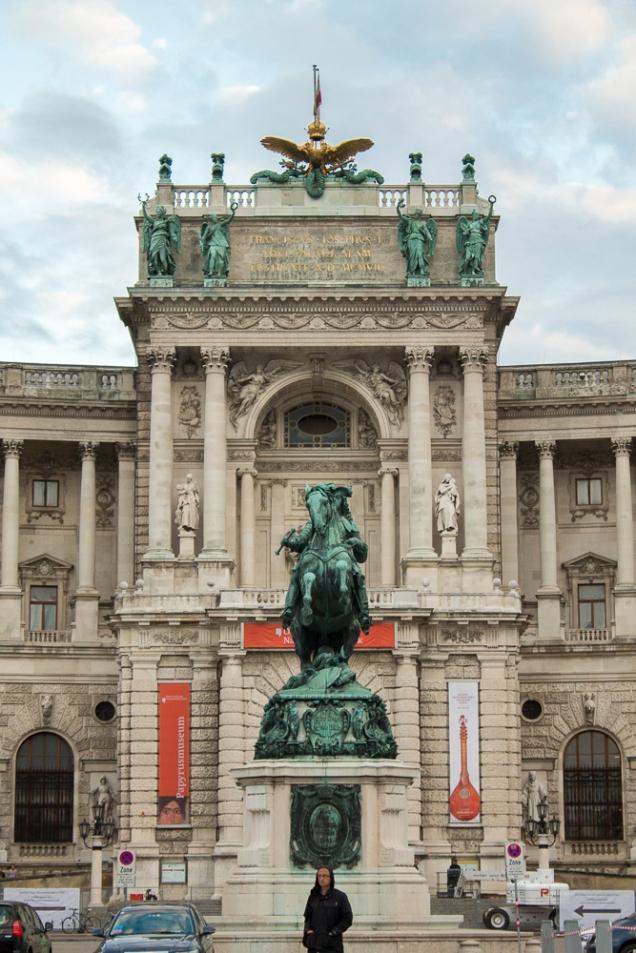 Fachada central do Hofburg