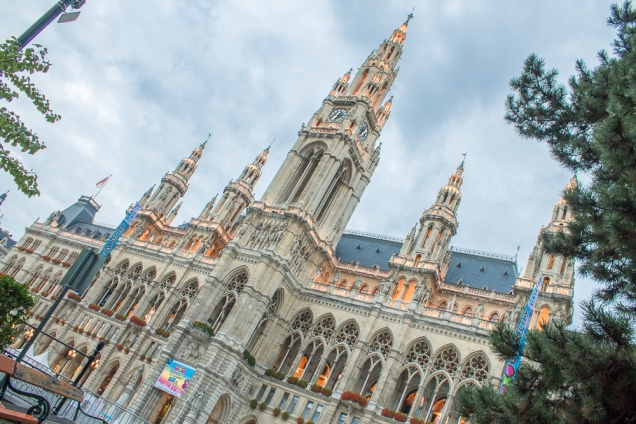 A sede da prefeitura de Viena