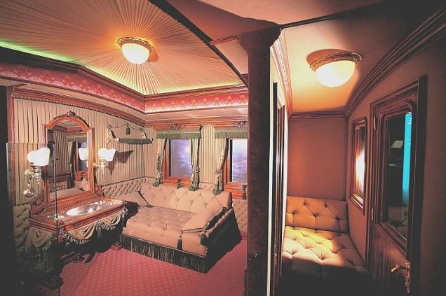 O vagão de trem em que Sissi viajava. Classe imperial